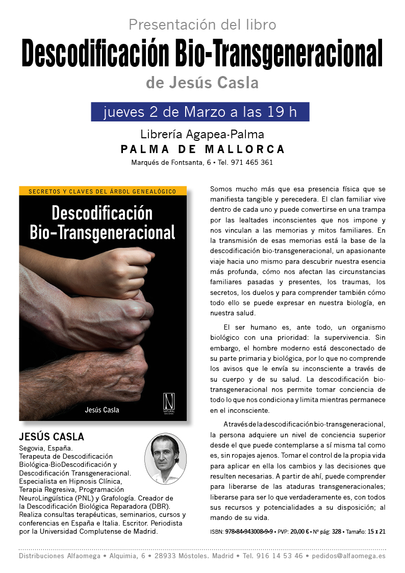 Presentacion en Palma de Mallorca libro Descod Bio-transgeneracional